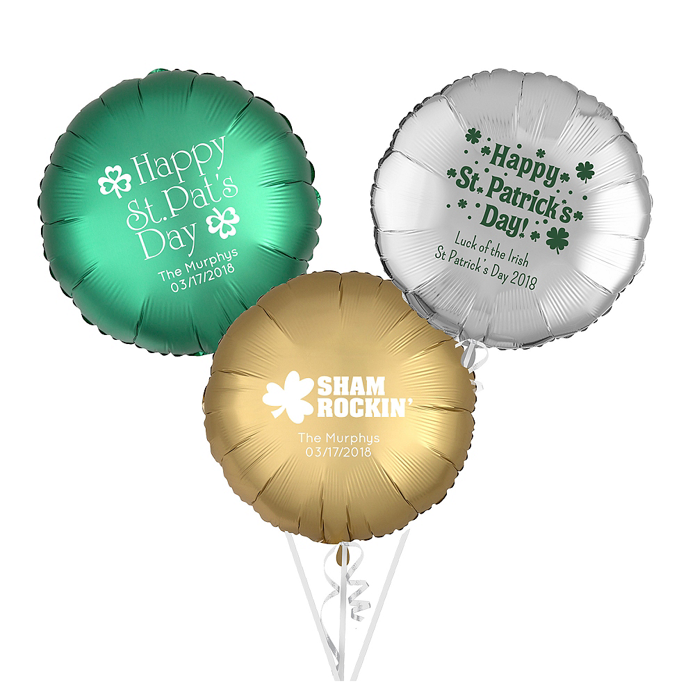 Personalized St. Patrick's Day Round Balloon Image #1