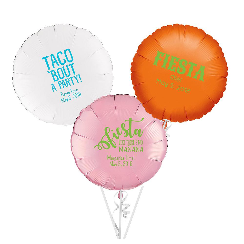 Personalized Cinco de Mayo Round Balloon Image #1