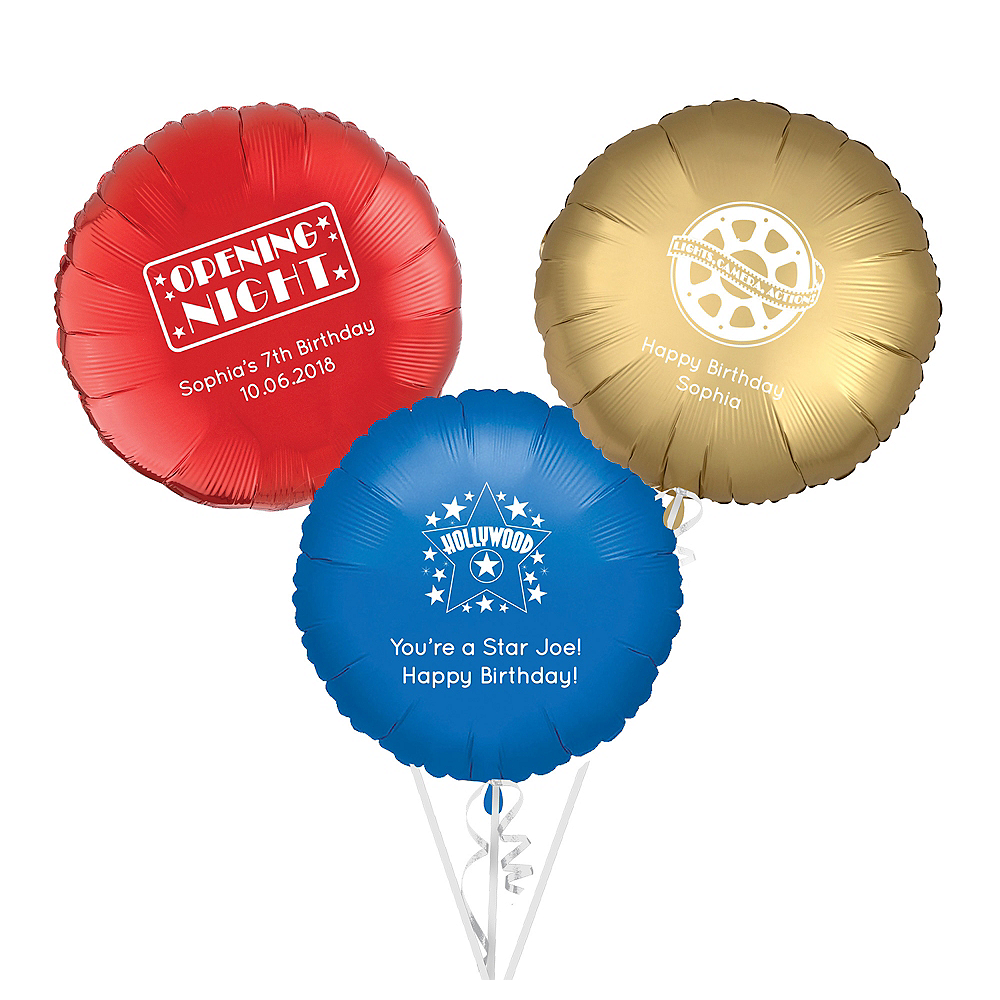 Personalized Hollywood Round Balloon Image #1