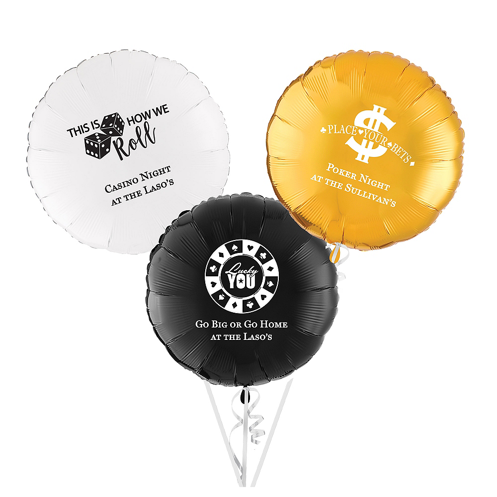 Personalized Casino Round Balloon Image #1