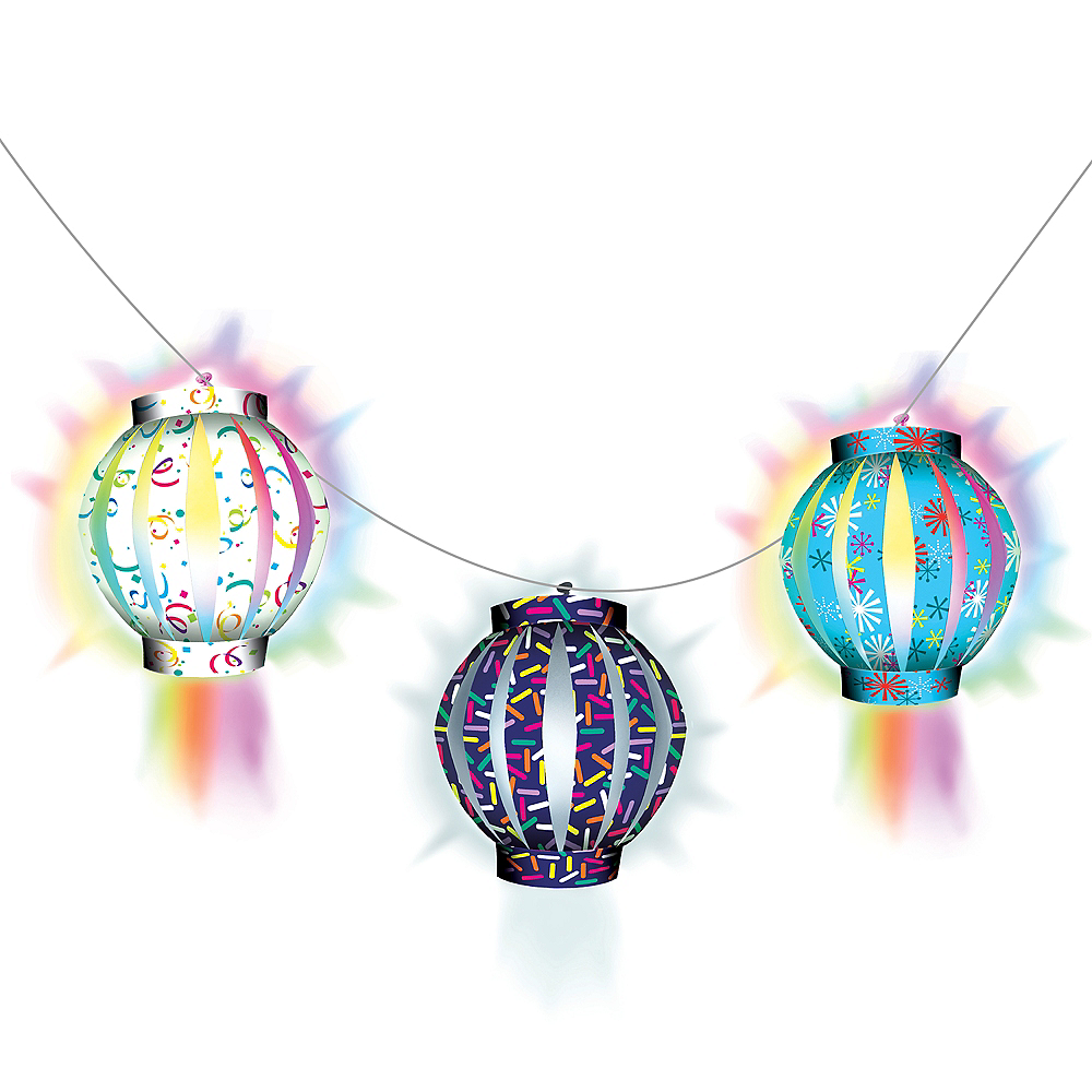 Illooms Light-Up Patterned LED Balloon Lanterns 3ct, 5in Image #2