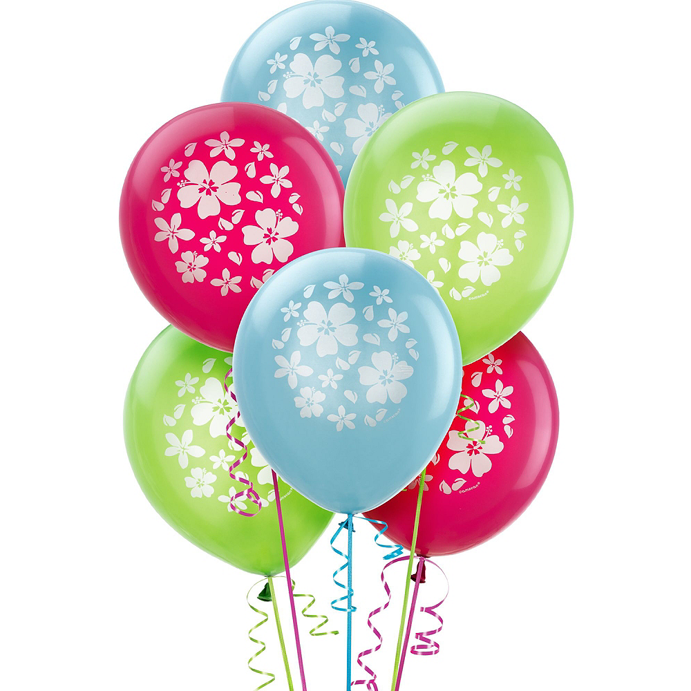 Tropical Drink & Hibiscus Flowers Balloon Kit Image #2