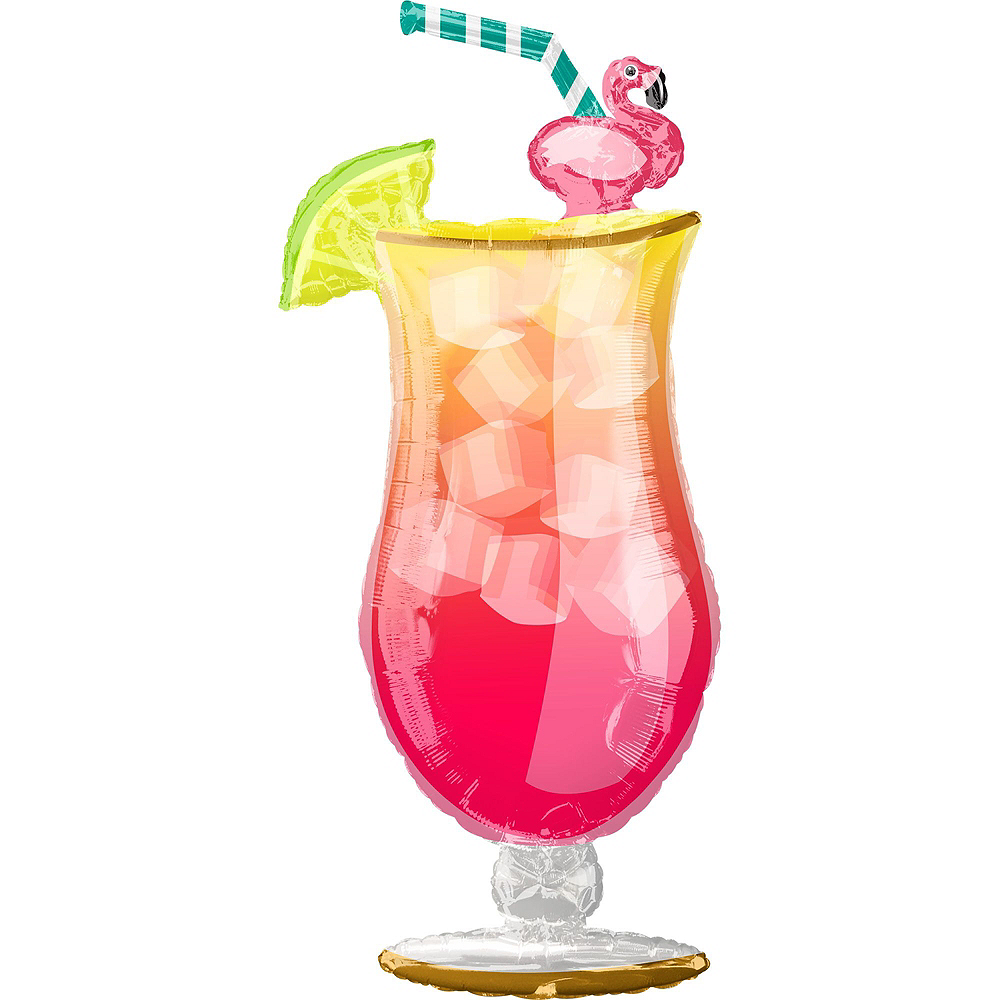 Tropical Drink & Hibiscus Flowers Balloon Kit Image #3