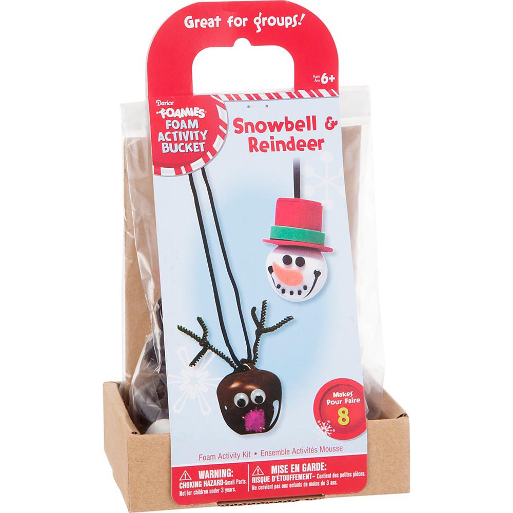 Reindeer & Snowman Bell Necklace Kit Image #1