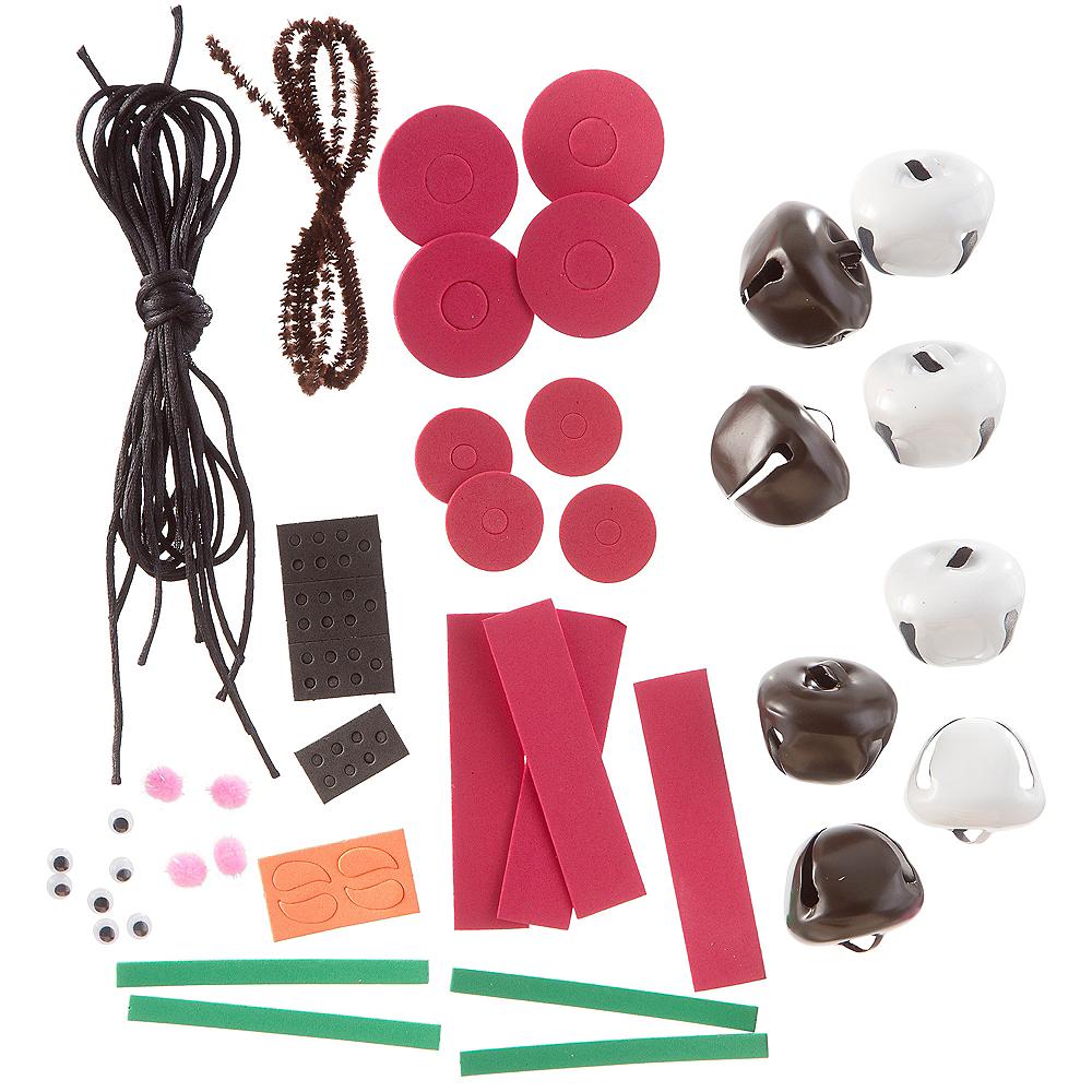 Reindeer & Snowman Bell Necklace Kit Image #2