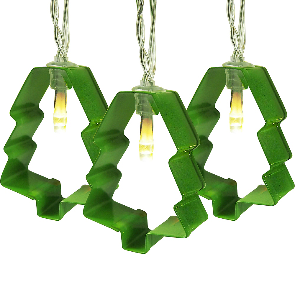 Christmas Tree Cookie Cutter String Lights Image #1