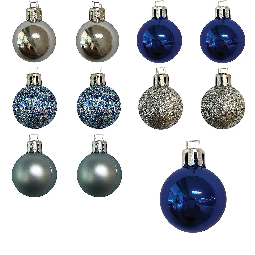 Blue & Silver Ornaments 25ct Image #1