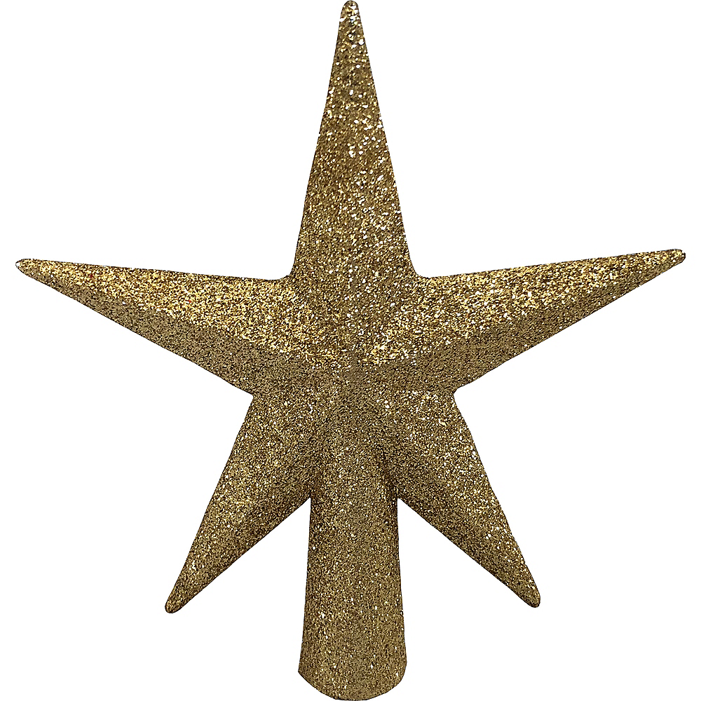 Mini Glitter Gold Star Tree Topper Image #1