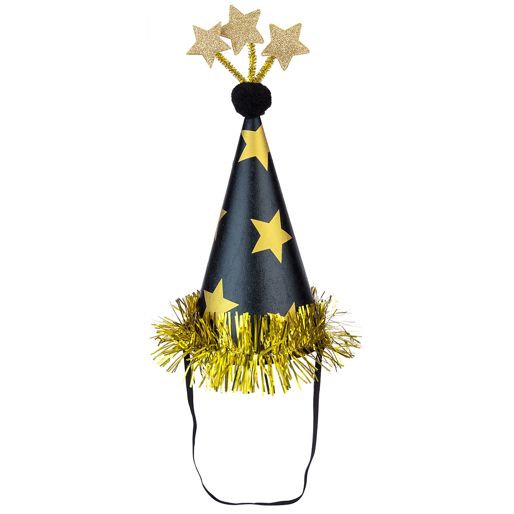 Gold Stars Party Hat Image #1
