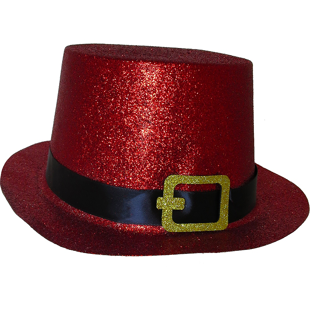 Glitter Red Top Hat Image #1