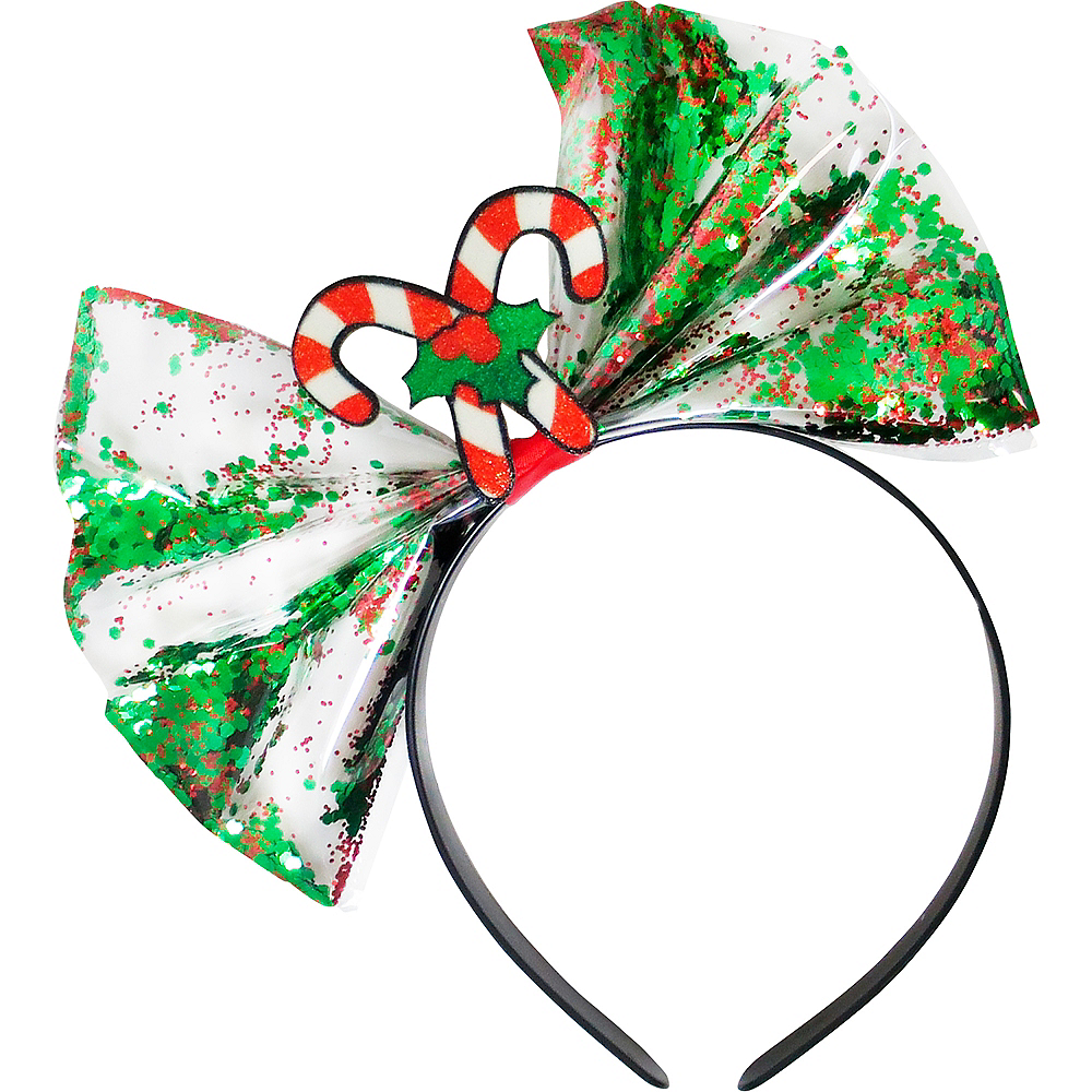 Nav Item for Candy Cane Bow Headband Image #1