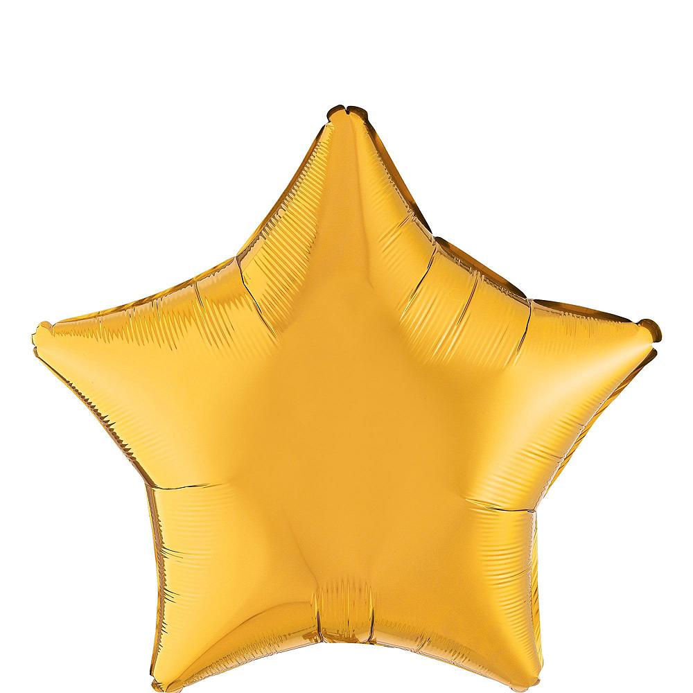 Black, White & Gold Congrats Graduate Gold Star Balloon Kit Image #3