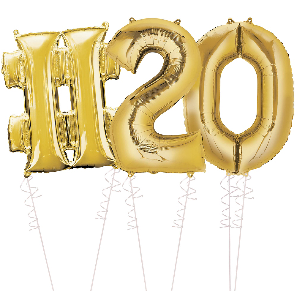 Giant Gold Hashtag 19 Balloon Kit Image #1