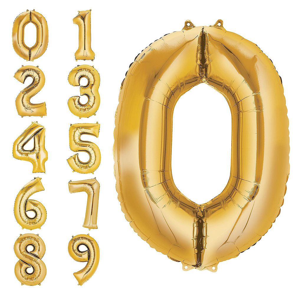 Nav Item for Giant Gold Hashtag 19 Balloon Kit Image #4