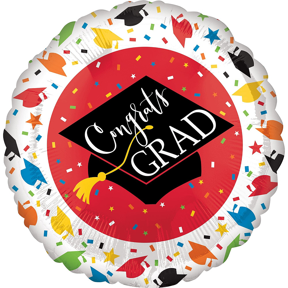 Nav Item for Confetti Caps Graduation Red Star Balloon Kit Image #3