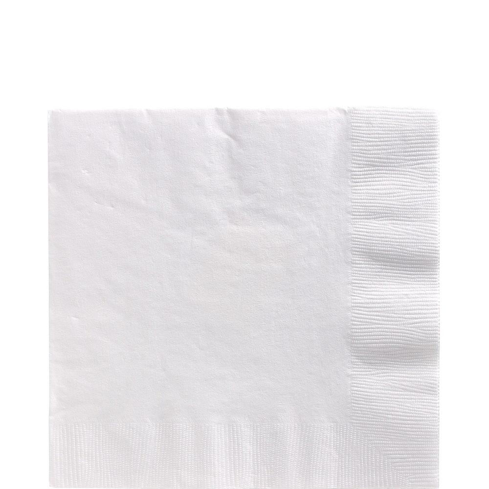 Orange & White Plastic Tableware Kit for 50 Guests Image #4