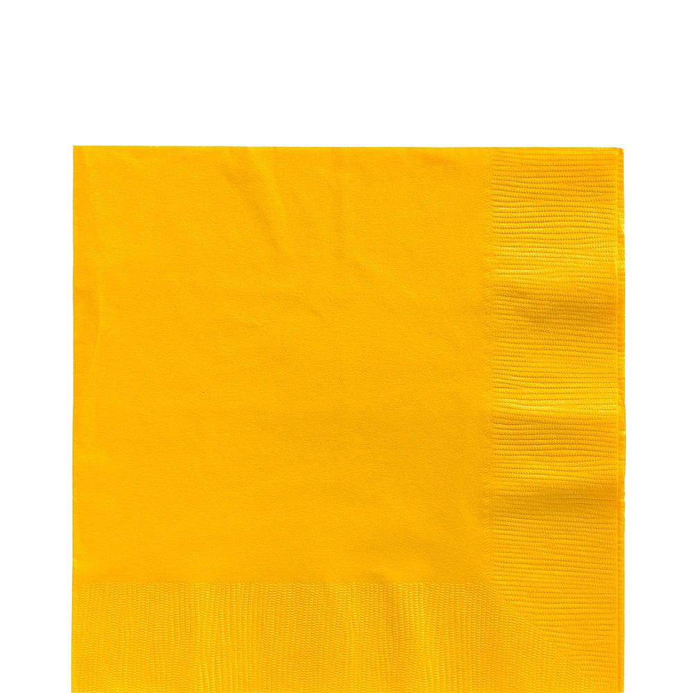 Orange & Sunshine Yellow Plastic Tableware Kit for 50 Guests Image #4