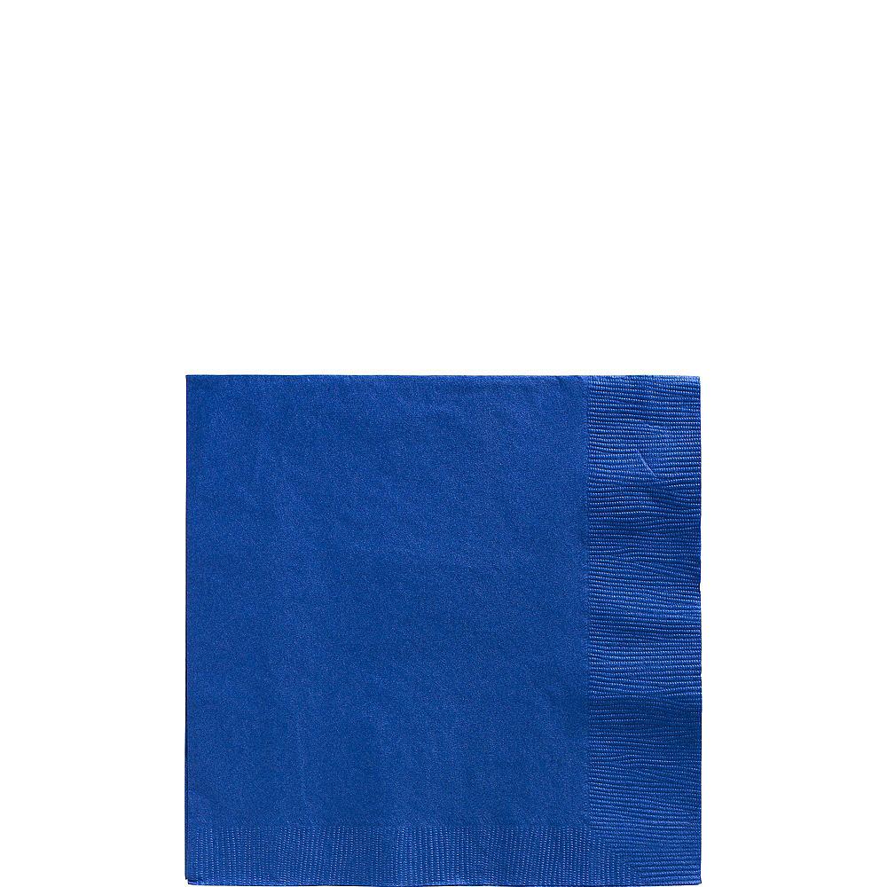 Orange & Royal Blue Plastic Tableware Kit for 100 Guests Image #4