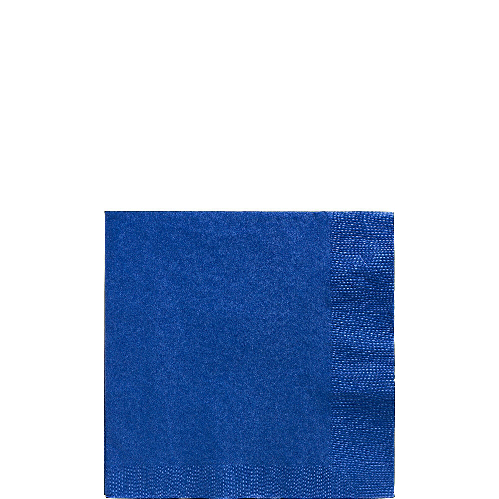 Royal Blue & White Plastic Tableware Kit for 100 Guests Image #4