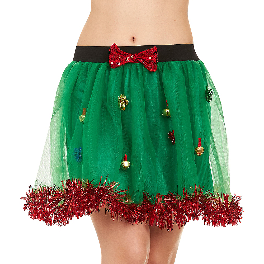 Adult Gift Bows & Bells Christmas Skirt Image #1