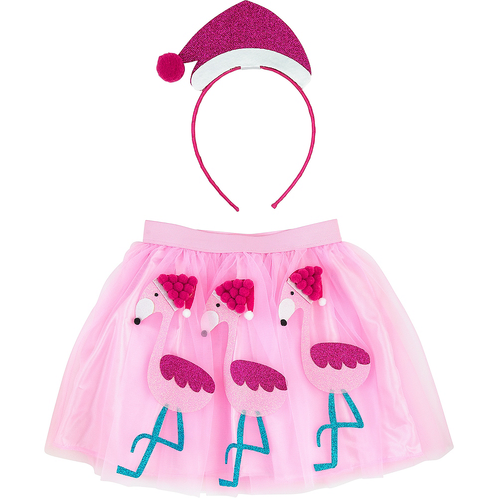Child Flamingo Santa Costume Accessory Kit Image #1