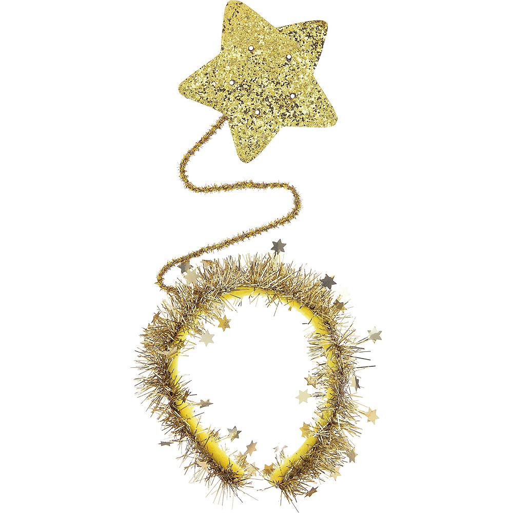 Light-Up Gold Star Headband 5 1 2in x 14 1 2in  b8d4ee364c8