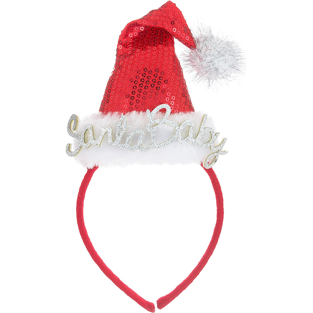 Nav Item for Santa Baby Santa Hat Headband Image #1