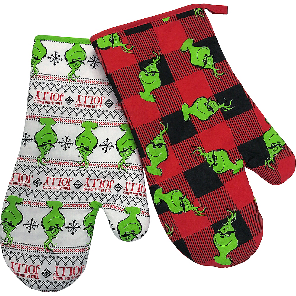 grinch oven mitts 2pc image 1