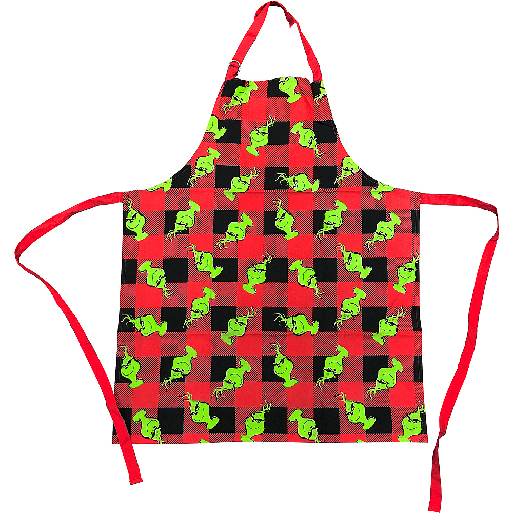 Grinch Buffalo Plaid Apron Image #1