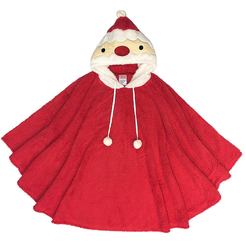 Fuzzy Santa Poncho Image #1