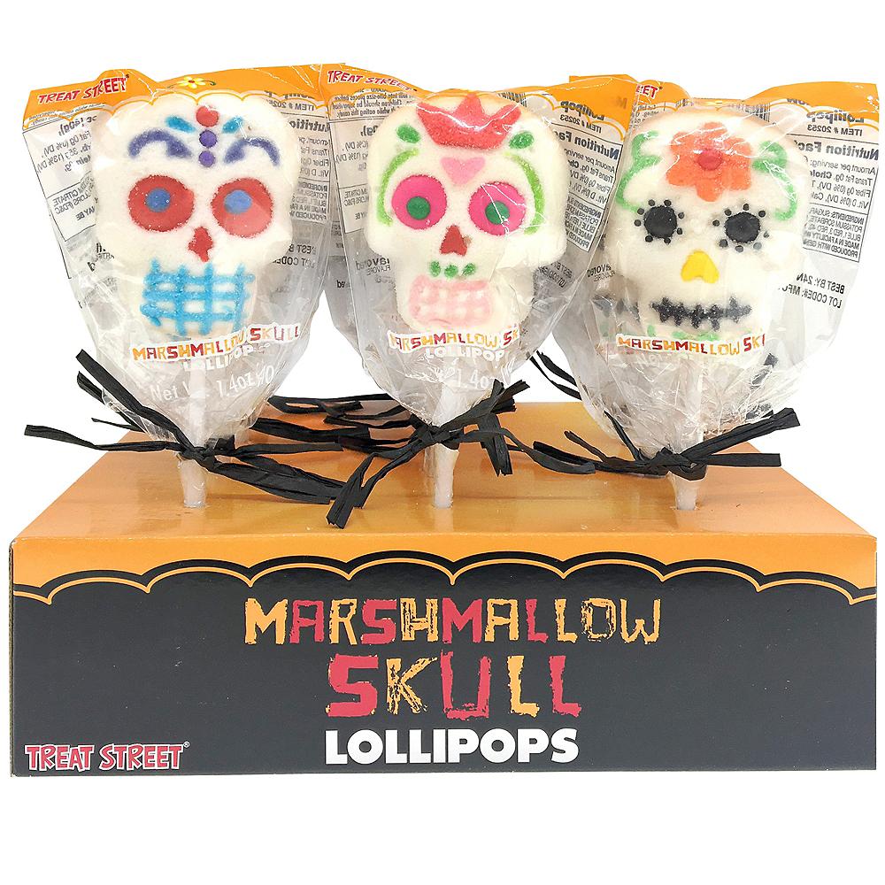 Marshmallow Skull Lollipop Image #1