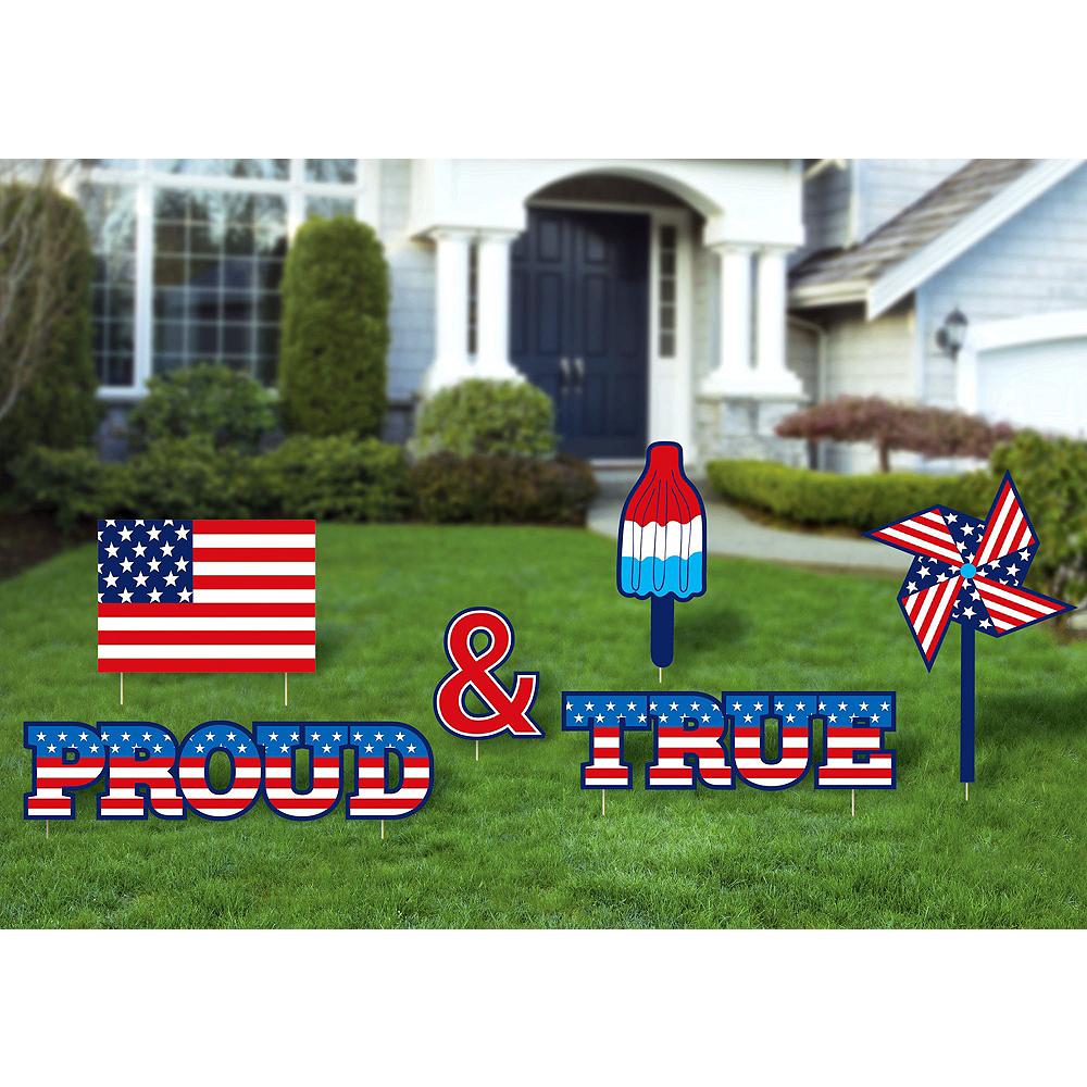 Patriotic Proud & True Yard Sign Set 12pc Image #4
