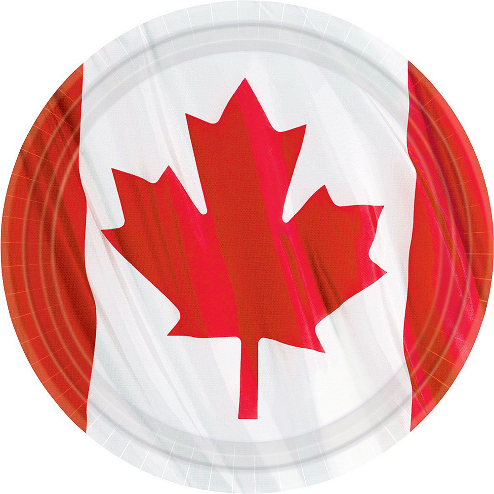 Waving Canadian Flag Party Pack for 20 Guests Image #3