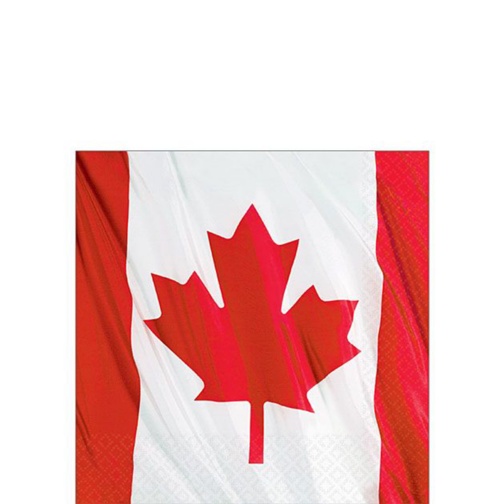 Waving Canadian Flag Party Pack for 20 Guests Image #4