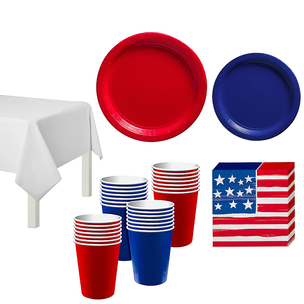 American Flag Tableware Kit for 40 Guests Image #1