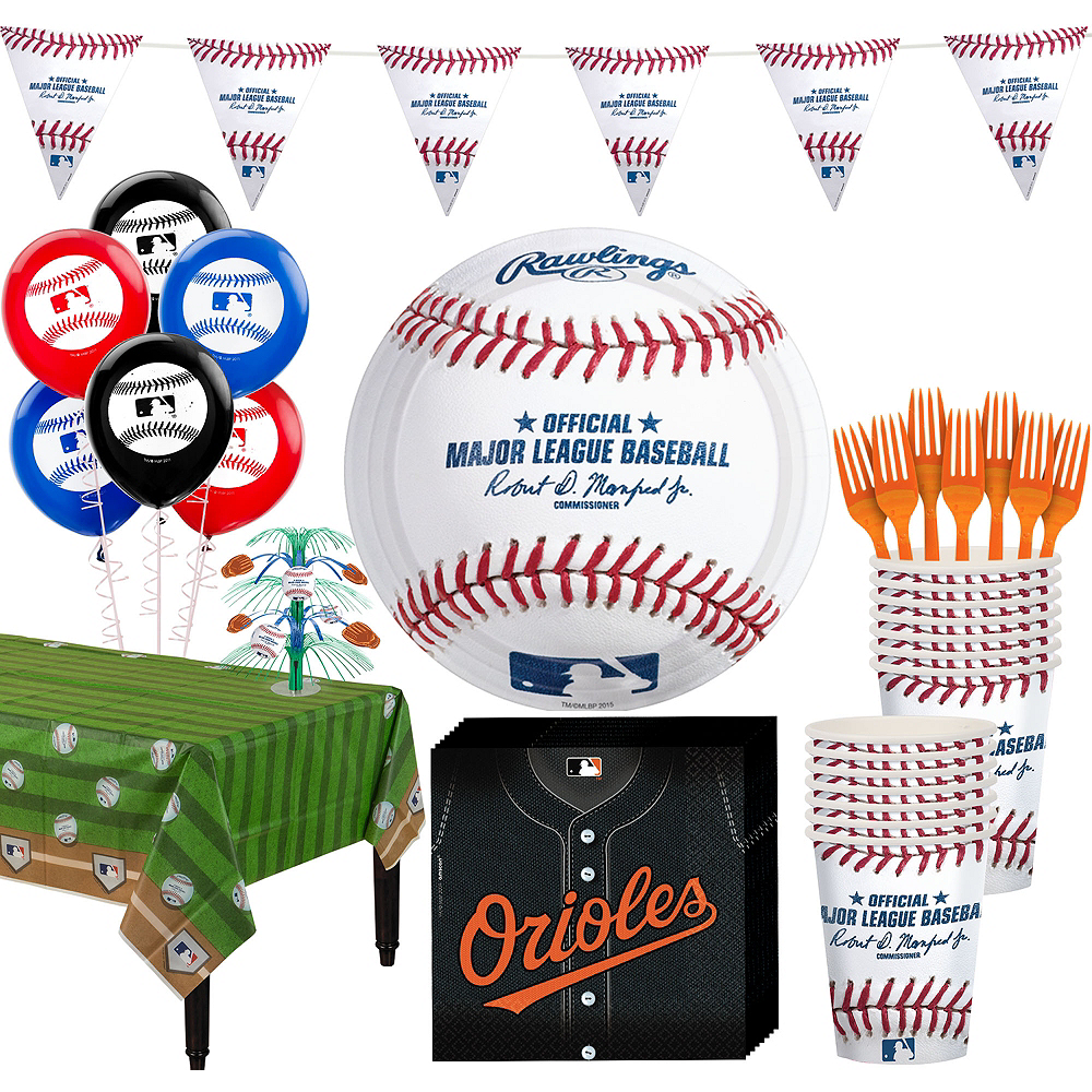 Baltimore Orioles Super Party Kit for 16 Guests Image #1