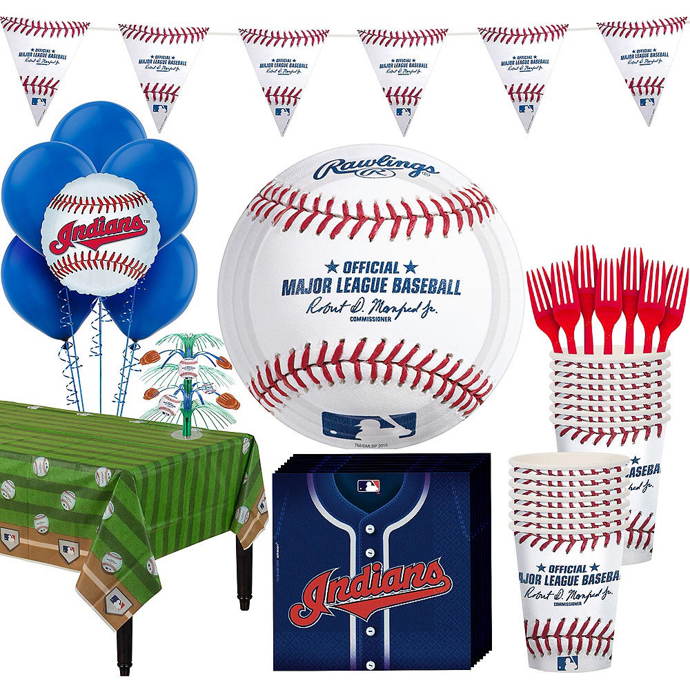 Cleveland Indians Super Party Kit for 16 Guests Image #1