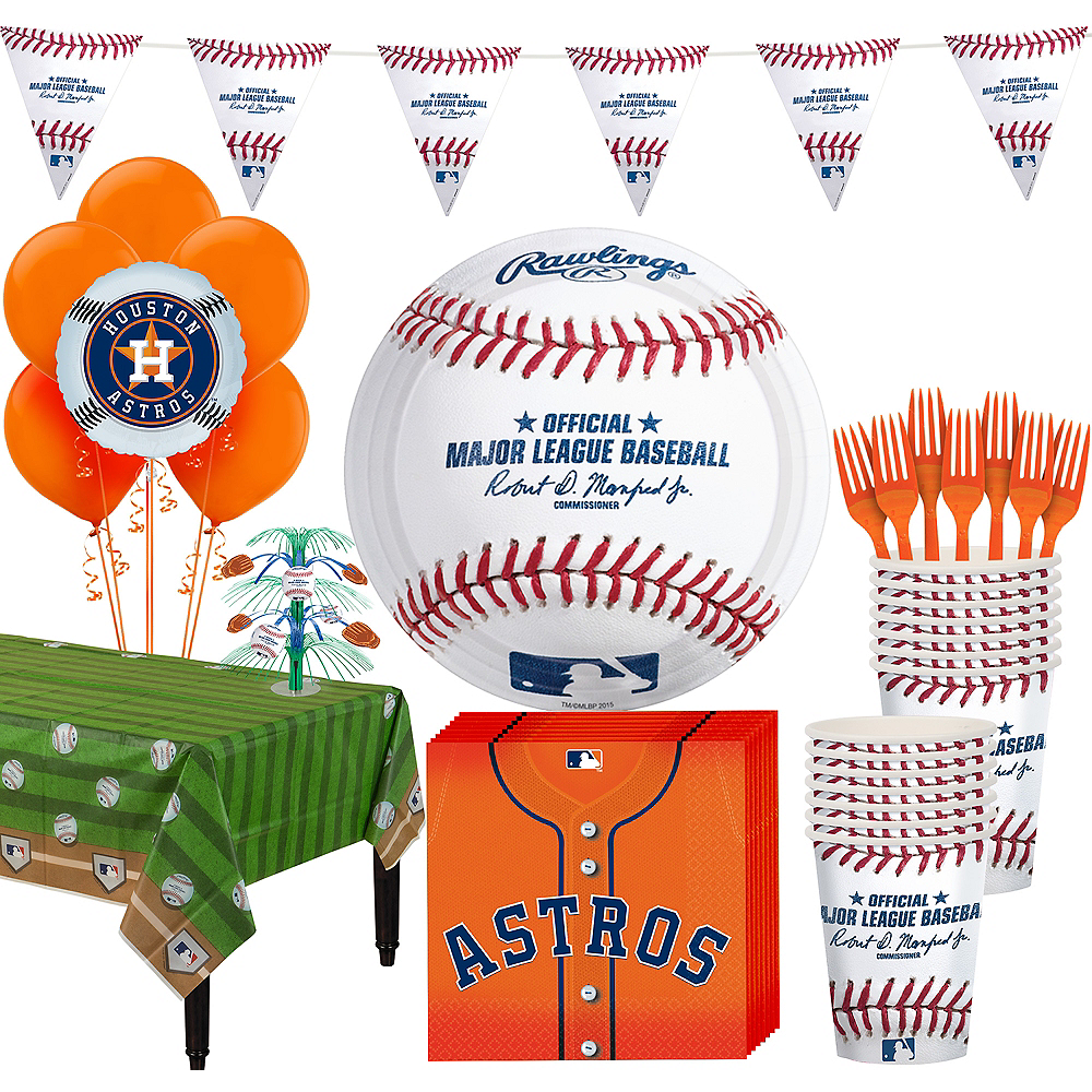 Houston Astros Super Party Kit for 16 Guests Image #1