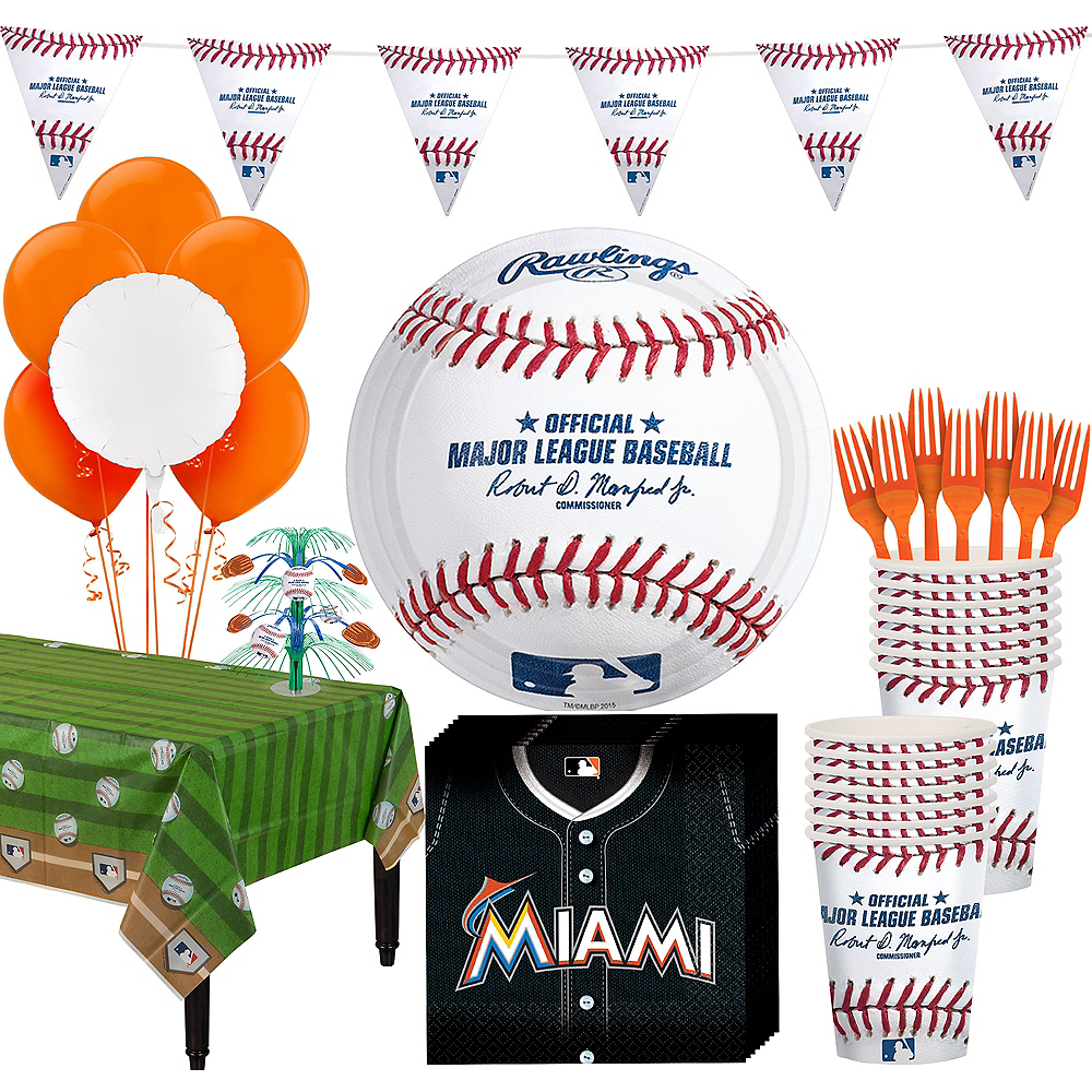 Miami Marlins Super Party Kit for 16 Guests Image #1