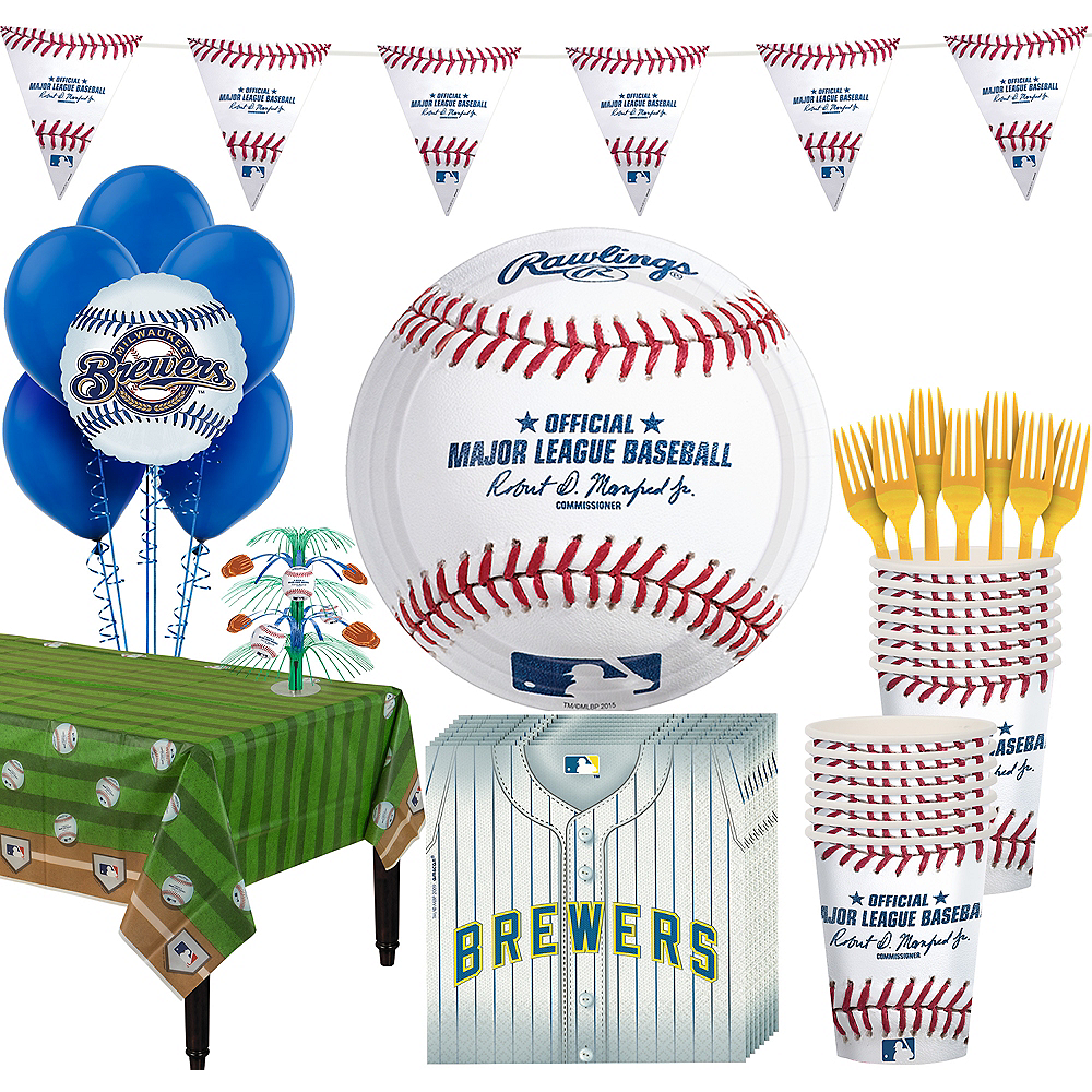 Milwaukee Brewers Super Party Kit for 16 Guests Image #1