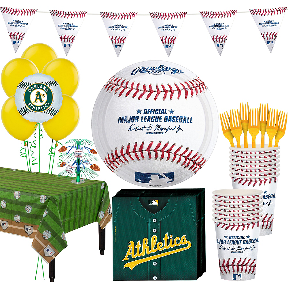 Oakland Athletics Super Party Kit for 16 Guests Image #1
