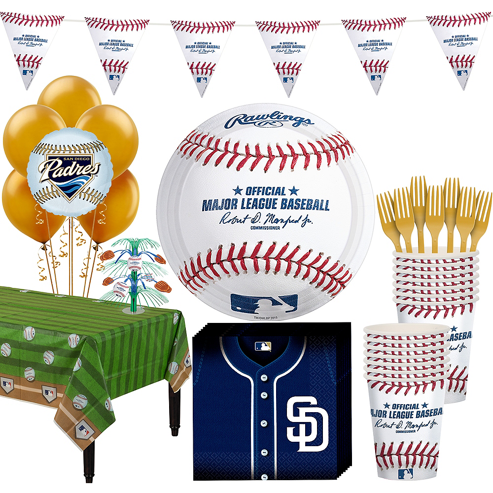 San Diego Padres Super Party Kit for 16 Guests Image #1