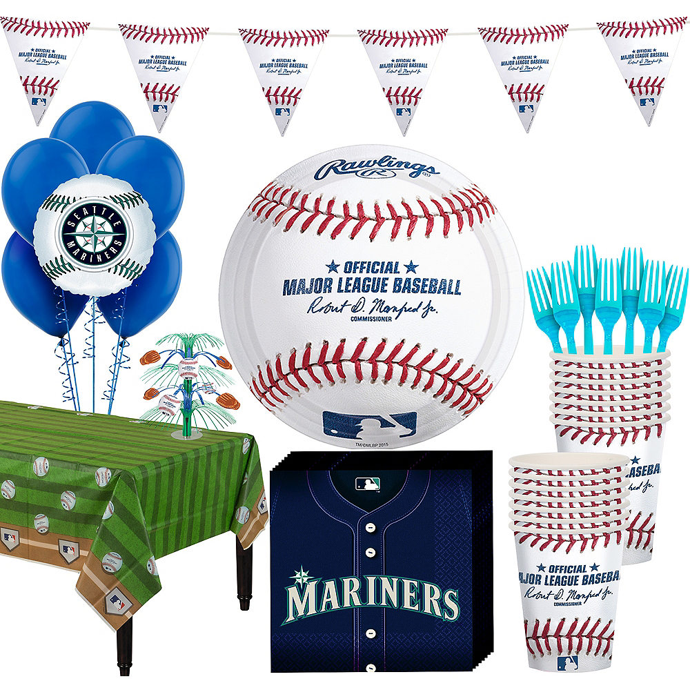 Seattle Mariners Super Party Kit for 16 Guests Image #1