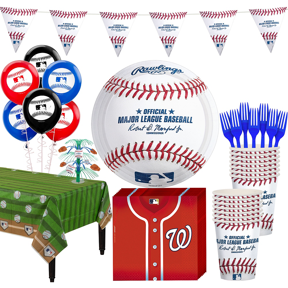 Washington Nationals Super Party Kit for 16 Guests Image #1