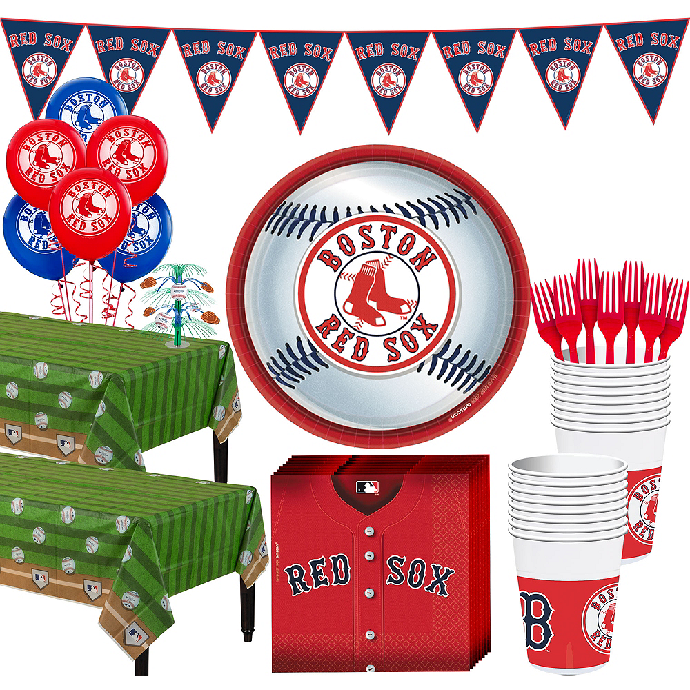 Super Boston Red Sox Party Kit for 36 Guests Image #1