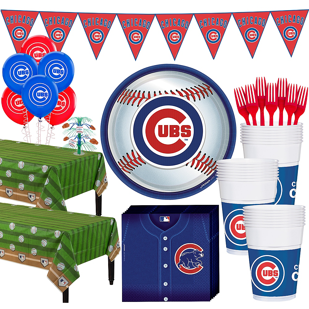 Super Chicago Cubs Party Kit for 36 Guests Image #1