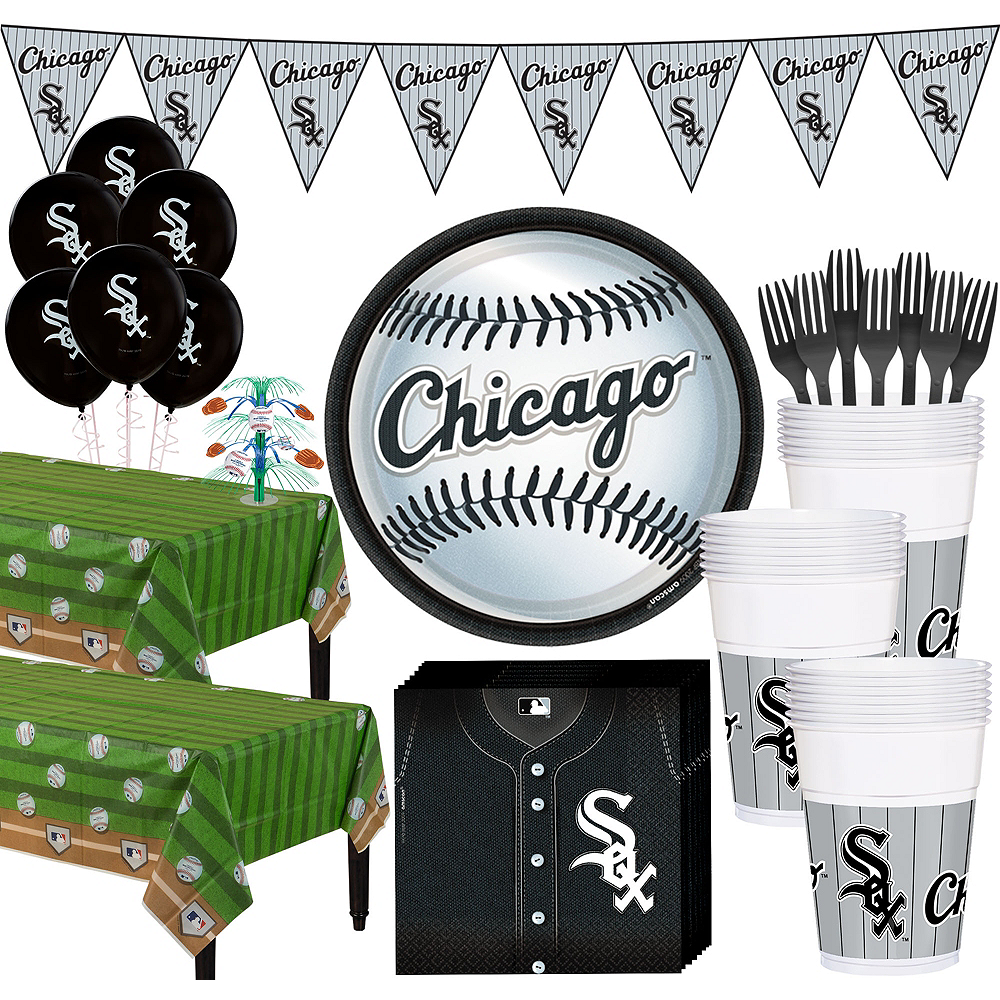 Super Chicago White Sox Party Kit for 36 Guests Image #1