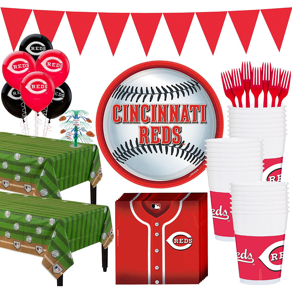 Super Cincinnati Reds Party Kit for 36 Guests Image #1