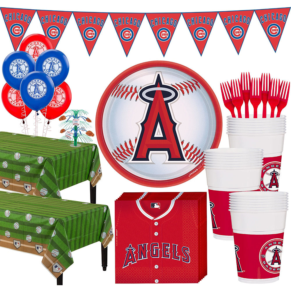 Super Los Angeles Angels Party Kit for 36 Guests Image #1