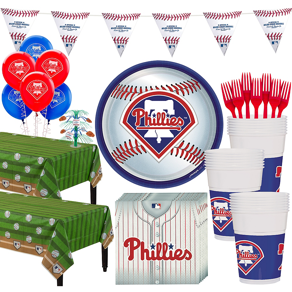 Super Philadelphia Phillies Party Kit for 36 Guests Image #1